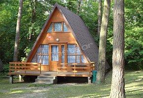 Domek drewniany, jednopiętrowy, 3 pokojowy, typu Brda.