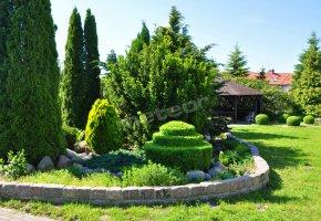 ogród i domek grillowy