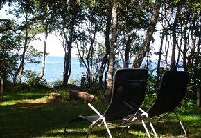 Dom 5 widok na morze z ogrodu