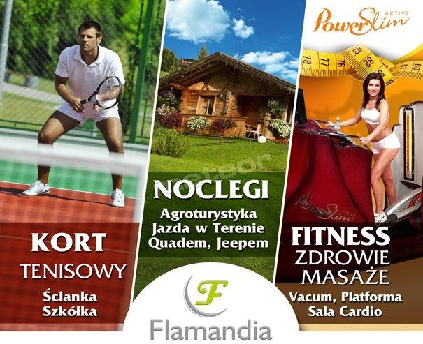 Flamandia, tanie noclegi, kort tenisowy, basen, fitness, rowery, rzeka, przyjazna atmosfera, promocje