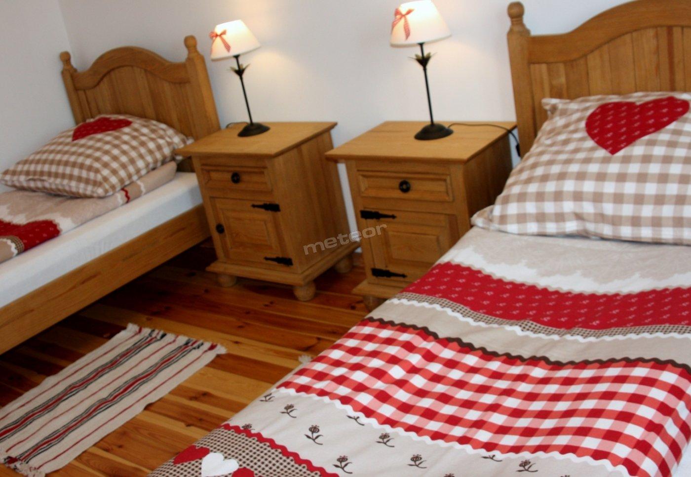 Sypialnia w apartamencie nr 1
