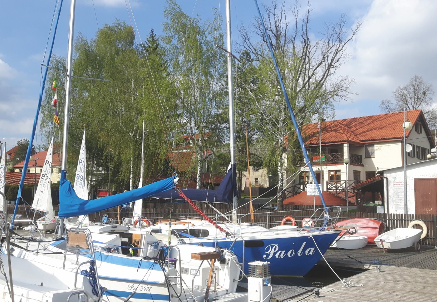 port jachtowy i nasz obekt