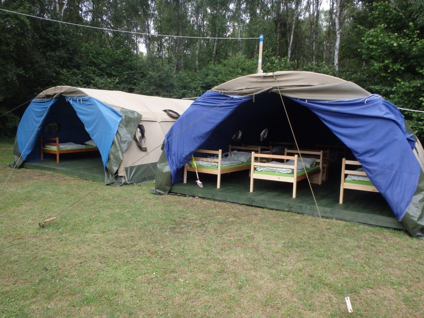 Namioty harcerskie - obozy, zielone szkoły